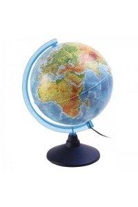 Глобус Земли физико -политический, с подсветкой, 250 мм с подсветкой