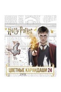 Карандаши цветные `VK` 24 цв. -Гарри Поттер- с заточ. в карт.короб. с европодвесом