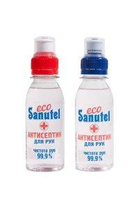 Жидкость антисептическая для рук EcoSanutel, с витамином Е, 100мл