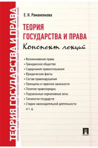 Теория государства и права. Конспект лекций. Учебное пособие