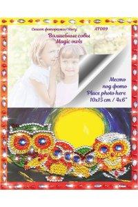 AF009/Волшебные совы - Алмазная фоторамка, AF009